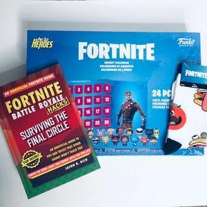 FORTNITE Bundle Funko Pop Heroes Advent Socks Book